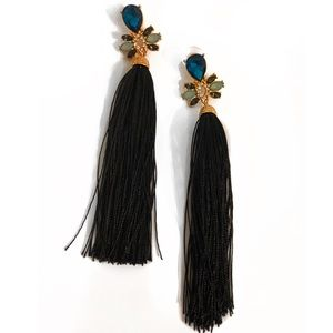 Jewelry - Black Tassel Earrings
